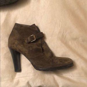 Ralph Lauren brown suede booties